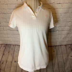Lily Pulitzer white polo shirt, M